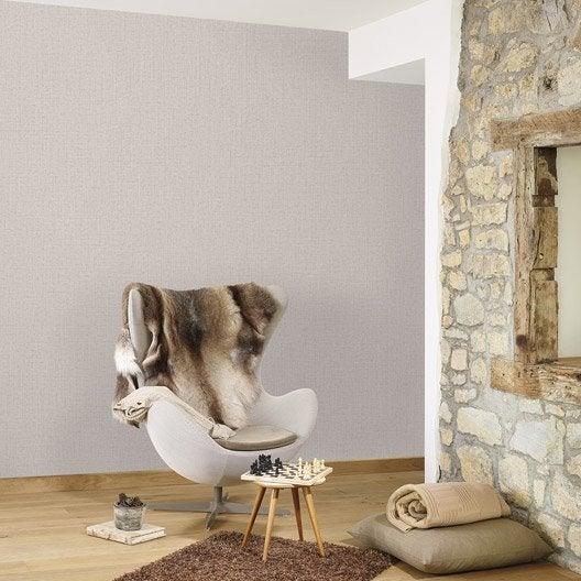 papier peint vinyle sur intiss lucia uni marron glac. Black Bedroom Furniture Sets. Home Design Ideas