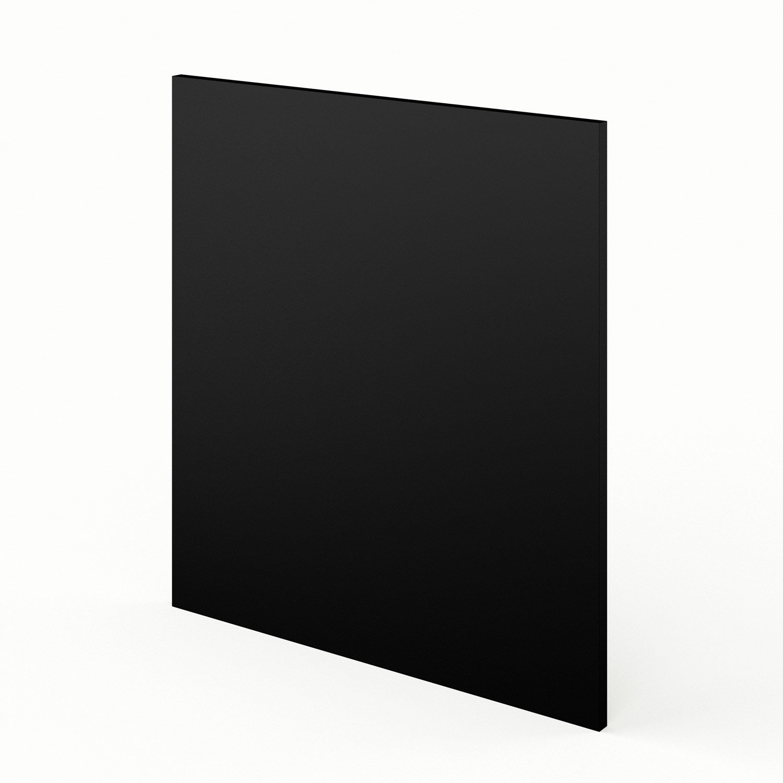 joue meuble bas de cuisine noir mat edition, l.65 x h.70 cm | leroy