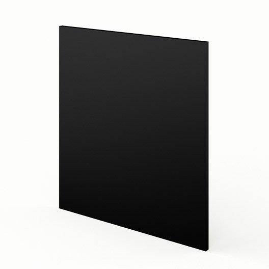 Joue meuble bas de cuisine noir l65 mat edition l65 x h70 for Meuble cuisine noir mat