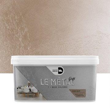 Peinture à effet, Le métal griffé MAISON DECO, zanzibar, 2 l