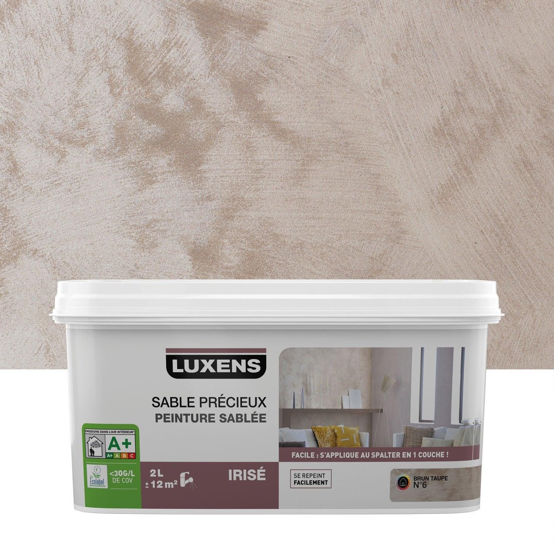 peinture à effet, sable précieux luxens, brun taupe 6, 2 l | leroy