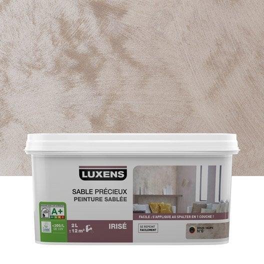Peinture effet sable pr cieux luxens brun taupe 6 2 l leroy merlin - Peinture castorama ou leroy merlin ...