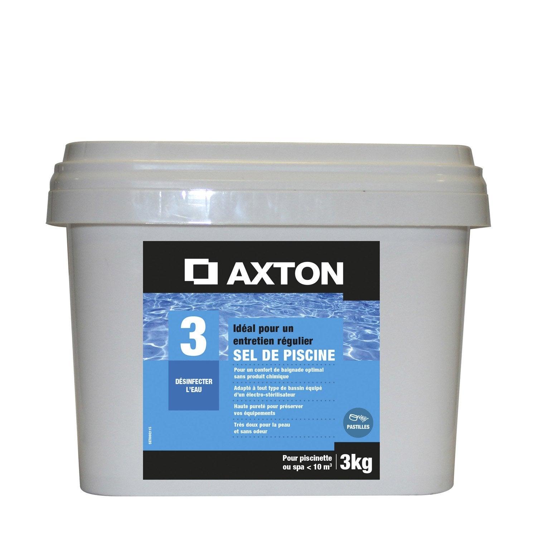 Sel de piscine spa axton pastille 3 kg leroy merlin for Prix piscine sel