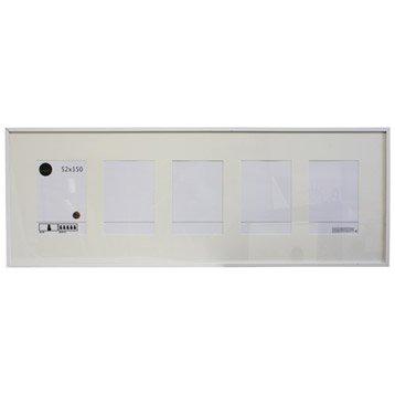 Cadre Lario, 52 x 150 cm, blanc-blanc n°0
