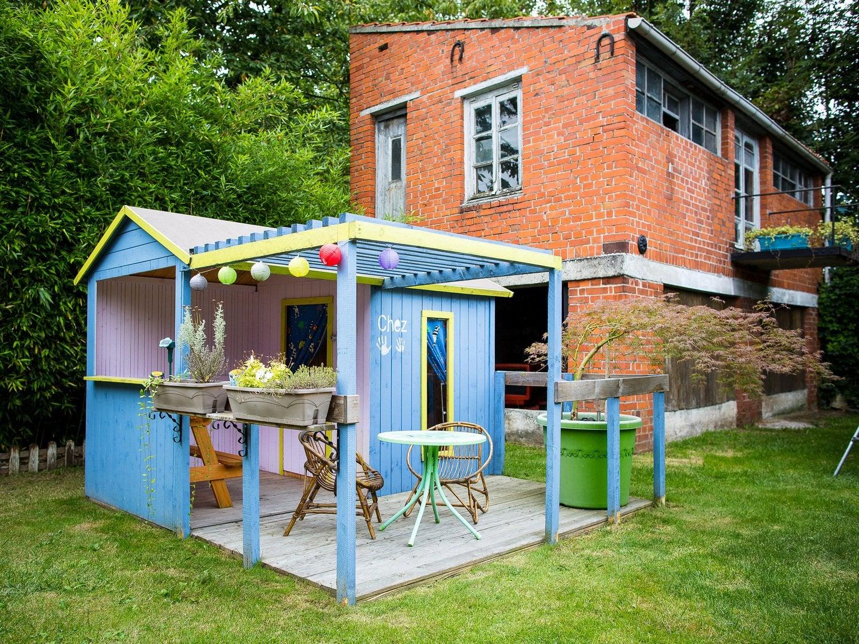 Balan oire maisonnette trampoline et toboggan leroy merlin - Maison jardin bois leroy merlin nanterre ...