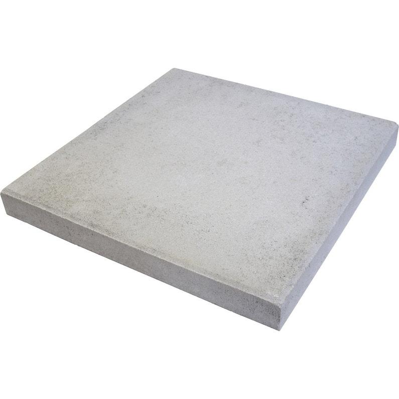 Dalle Beton Provencale Gris L 50 X L 50 Cm X Ep 50 Mm Leroy Merlin
