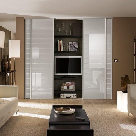 porte de placard coulissante sur mesure optimum uno de 80 1 100 cm leroy merlin. Black Bedroom Furniture Sets. Home Design Ideas