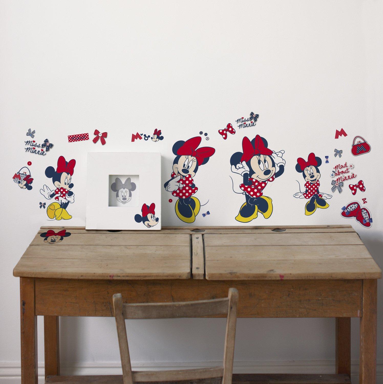 des stickers disney minnie pour habiller les murs d 39 une chambre enfant leroy merlin. Black Bedroom Furniture Sets. Home Design Ideas