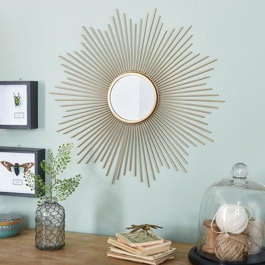 Miroir design industriel miroir mural sur pied au for Miroir design soleil