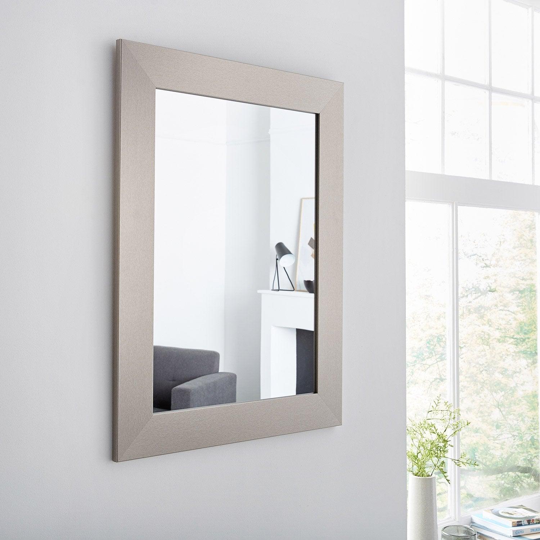 Miroir Loft acier l 50 x H 70 cm