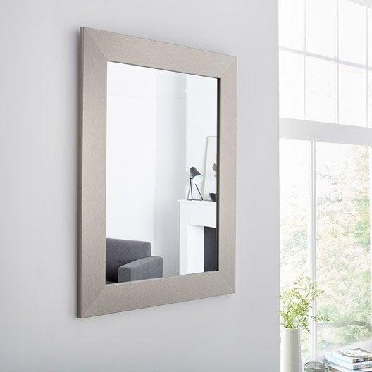 Miroir design industriel miroir mural sur pied au for Miroirs rectangulaires