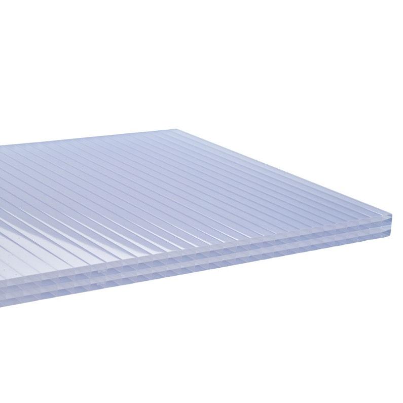 Plaque De Toiture Plat Polycarbonate Cellulaire Translucide L098 X L4 M Sedpa
