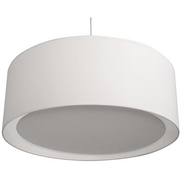 Suspension Essentiel INSPIRE, blanc blanc n°0, 60 watts, diam. 60 cm