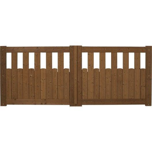 Portail portail aluminium bois fer pvc battant coulissant leroy merlin - Portail bois leroy merlin ...
