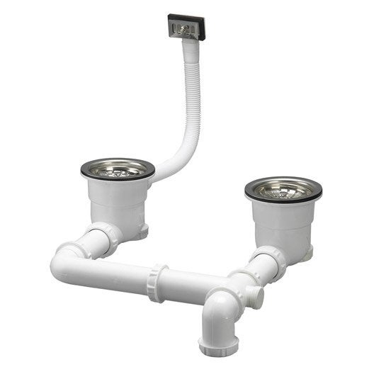 √ Siphon Evier Extra Plat Leroy Merlin