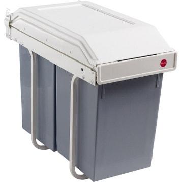 poubelle de cuisine automatique tri selectif pedale sous evier au meilleur prix leroy. Black Bedroom Furniture Sets. Home Design Ideas