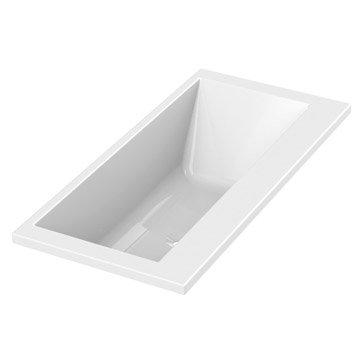 Baignoire rectangulaire duo Premium design SENSEA, acrylique, 180x85 cm