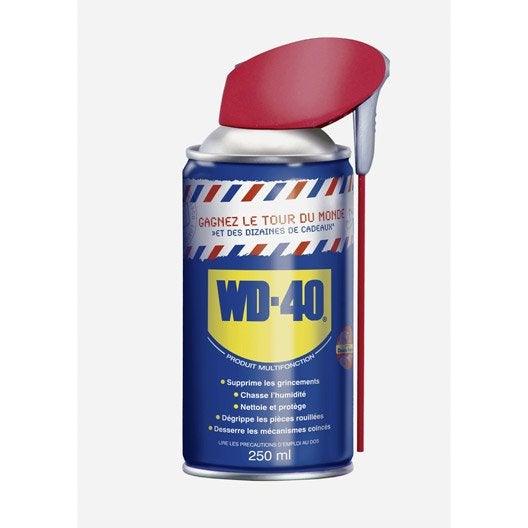 Lubrifiant multifonction en a rosol 250 ml wd 40 leroy merlin - Produit pour enlever le silicone sec ...