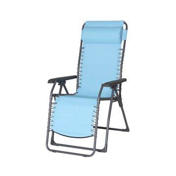 Relax de jardin en acier Lagon bleu