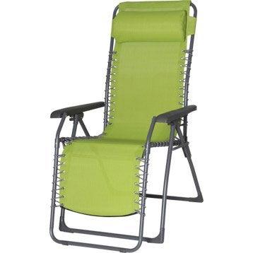 Relax de jardin en acier Lagon vert