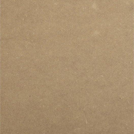 Panneau médium (mdf) naturel, Ep.3 mm x L.244 x l.122 cm
