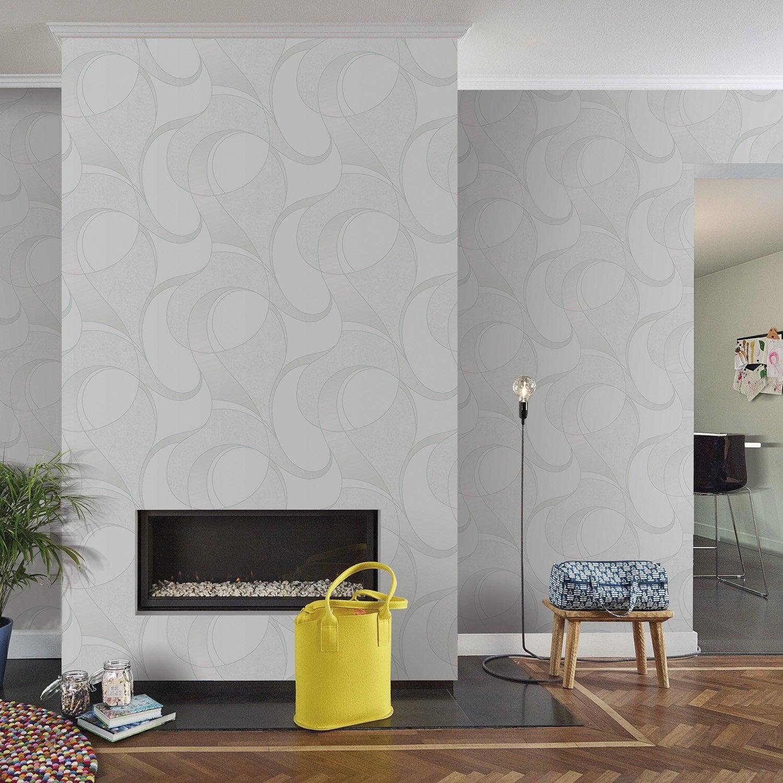Leroy Merlin Papier Peint Salle De Bain papier peint intissé uptown gris