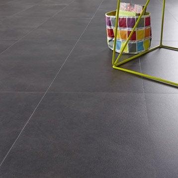 Dalle PVC clic ARTENS, béton, anthracite, 65.5 x 32.4 cm