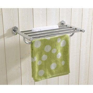 Porte serviettes accessoires et miroir de salle de bains - Porte serviette salle de bain leroy merlin ...
