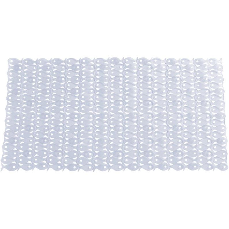 fish tapis antidrapant transparent pour baignoire fish - Tapis Baignoire