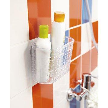 Etagère de bain / douche à ventouser, transparent, Play