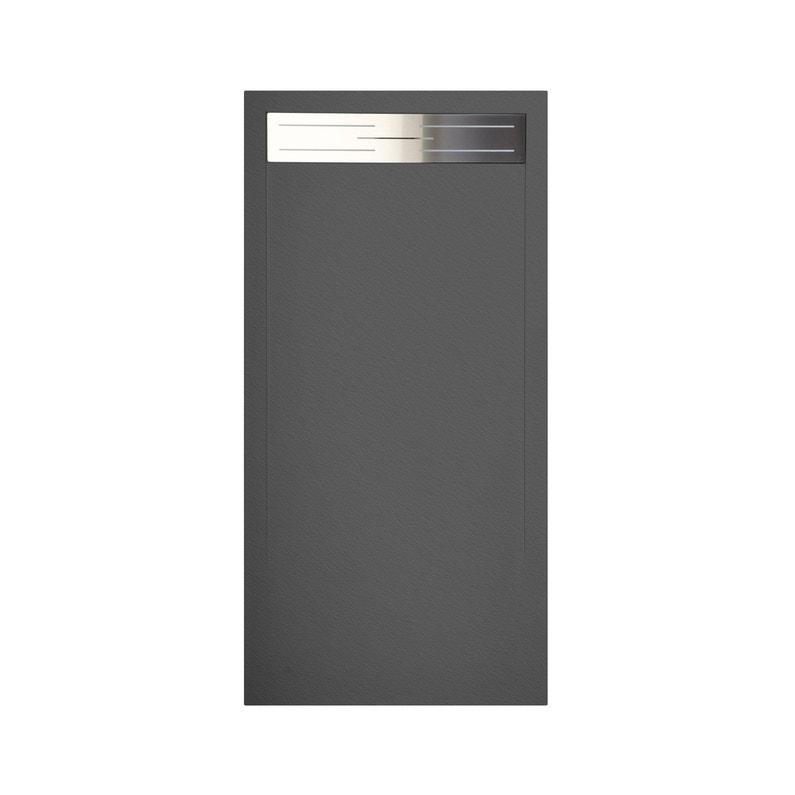 Receveur de douche rectangulaire x cm r sine gris urban standard leroy merlin - Receveur de douche 160 x 80 ...