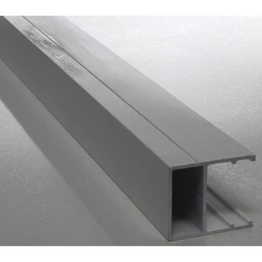 Profil bordure pour plaque ep 16 mm aluminium l 3 m for Plaque en aluminium pour cuisine