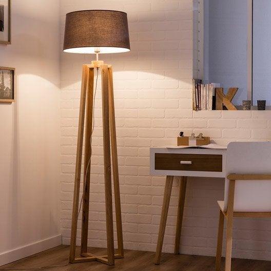 Pied de lampadaire sachi bois bois 144 cm inspire leroy merlin - Pied de lit leroy merlin ...