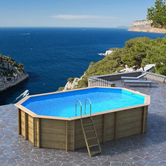 Piscine hors sol bois odyssea proswell by procopi l 6 4 x for Destockage piscine bois