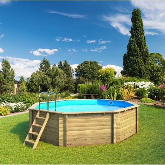 Piscine hors sol piscine bois gonflable tubulaire for Piscine bois enterree prix