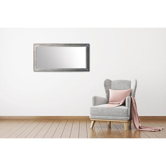miroir design industriel miroir mural sur pied au meilleur prix leroy merlin. Black Bedroom Furniture Sets. Home Design Ideas