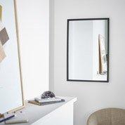 Miroir basic noir x cm leroy merlin for Miroir rectangulaire fly