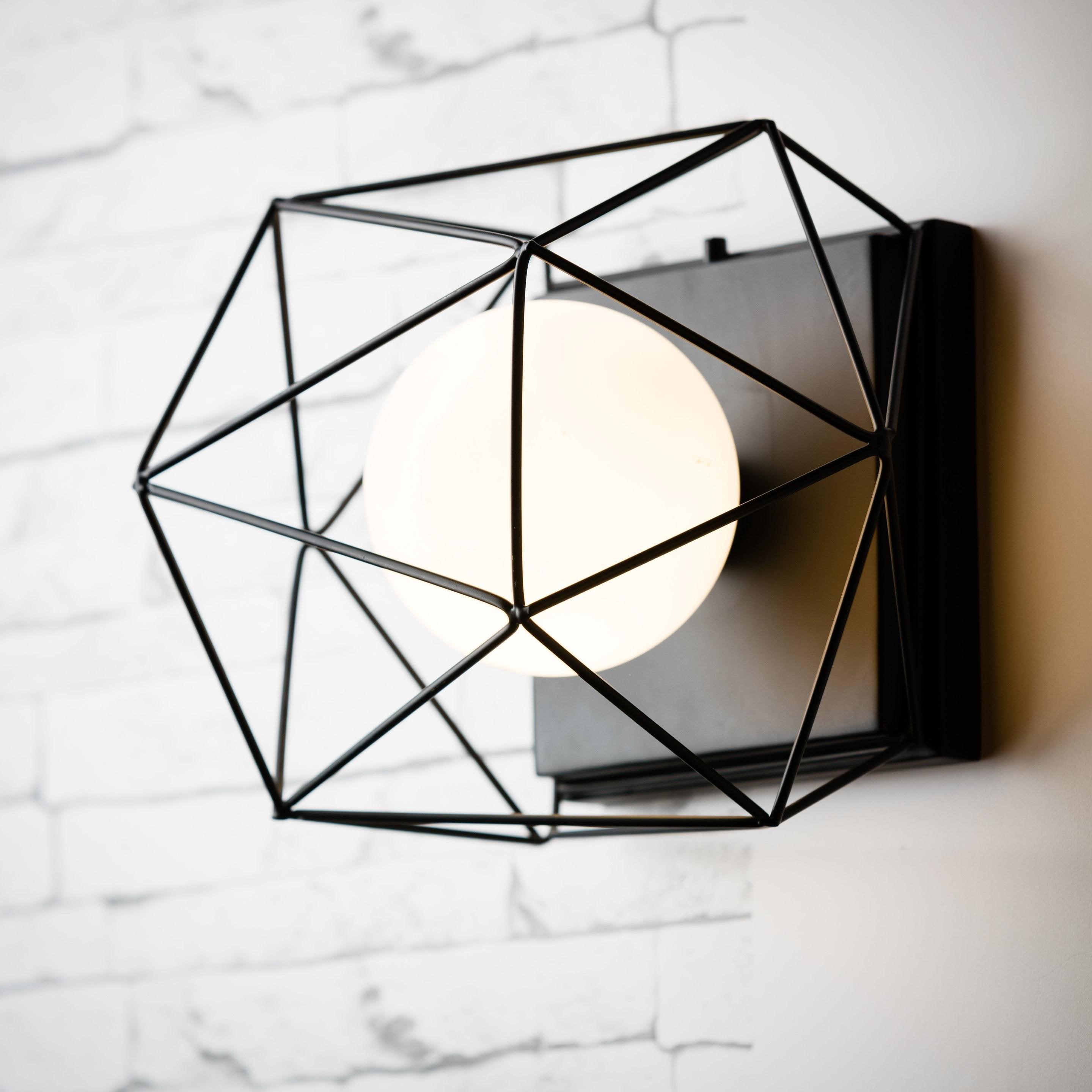 Applique métal noir BRILLIANT Synergie 1 lumière(s)