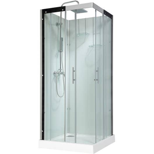cabine de douche carr 90x90 cm thalaglass 2 mitigeur. Black Bedroom Furniture Sets. Home Design Ideas