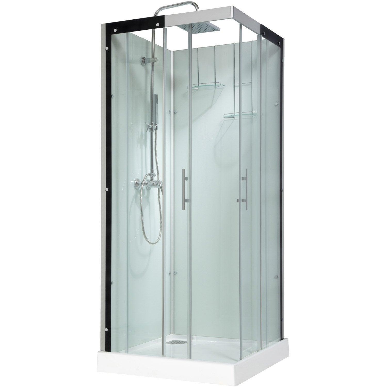Cabine de douche carré 90x90 cm, Thalaglass 2 mitigeur | Leroy Merlin