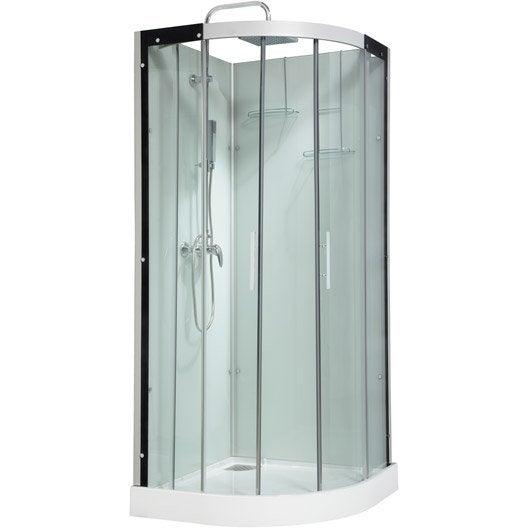 Cabine de douche salle de bains leroy merlin - Cabine de douche 90x90 d angle ...