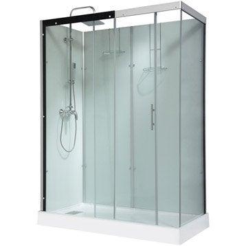 Cabine de douche rectangulaire 160x80 cm, Thalaglass 2 mitigeur