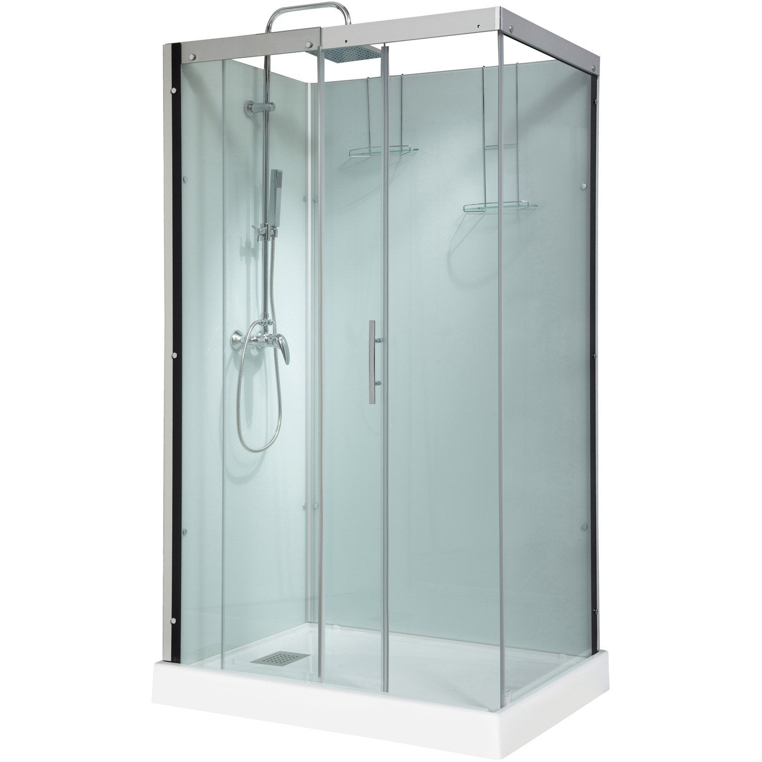 cabine de douche rectangulaire 120x90 cm thalaglass 2 mitigeur leroy merlin. Black Bedroom Furniture Sets. Home Design Ideas
