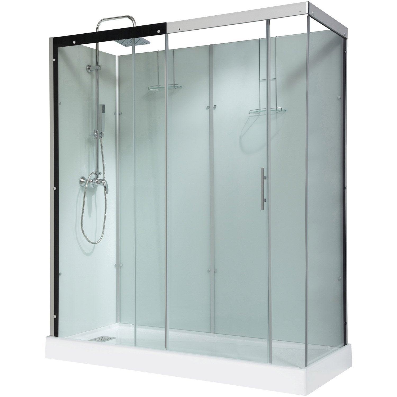 Cabine de douche rectangulaire L.180 x l.80 cm, Thalaglass2 mitigeur ...