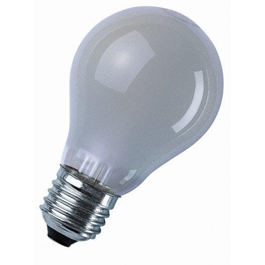 ampoule standard incandescente 60w e27 2700k osram leroy merlin. Black Bedroom Furniture Sets. Home Design Ideas