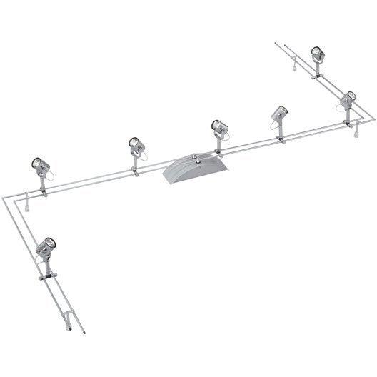 kit rail comet ii gu4 7 x 20 w paulmann leroy merlin. Black Bedroom Furniture Sets. Home Design Ideas