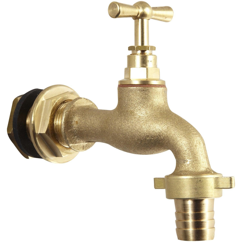 63d507be4c4db2 Robinet cuve récupérateur eau de pluie à clapet, mâle   mâle 20 x 27mm 20 x  27mm