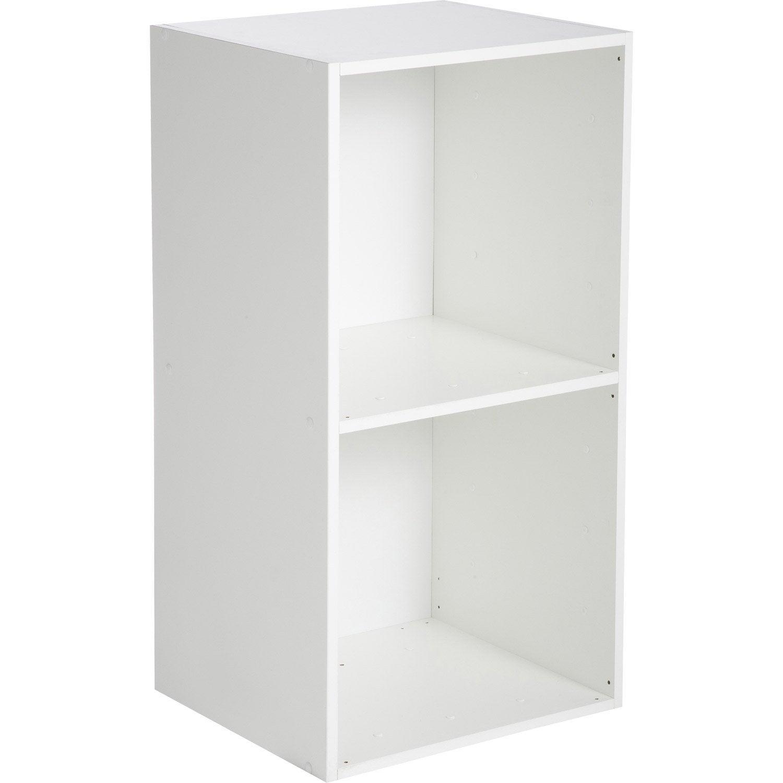 Etagère 2 cases MULTIKAZ, blanc H.69.2 x l.35.2 x P.31.7 cm