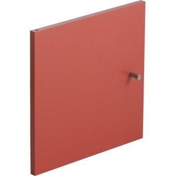 Porte MULTIKAZ, rouge H.32.2 x l.32.2 x P.1.5 cm