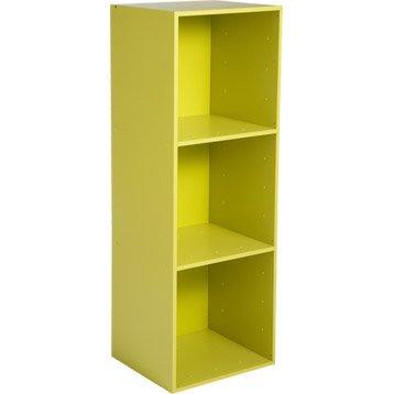 Etagère 3 cases MULTIKAZ, vert H.103.2 x l.35.2 x P.31.7 cm